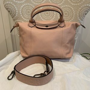 Longchamp Le Pliage Cuir in Size Small (new model)